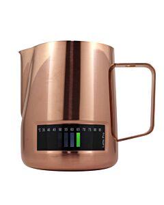 Latte Pro melkkan met temperatuurindicatie 600 ml koperkleurig