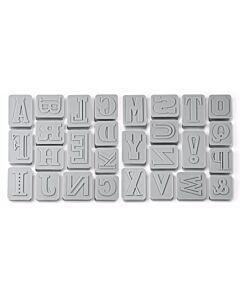 Fred Letter Pressed uitstekerset 28 delen kunststof grijs
