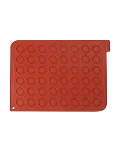Silikomart Macarons mat voor 48 stuks silicone bruin