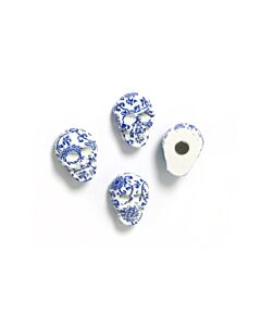Trendform Delft schedel koelkastmagneet 2,1 cm kunststof blauw 4 stuks