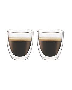 Oldenhof Thermo dubbelwandig espressoglas 80 ml glas 2 stuks