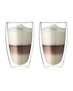 Oldenhof Thermo dubbelwandig latte macchiatoglas 380 ml glas 2 stuks