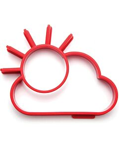 Monkey Business Sunny Side eibakvorm 13,8 cm silicone rood