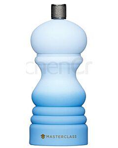 MasterClass zout- of pepermolen 12 cm soft touch kunststof Ombre Blue