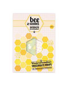Bee Goodies herbruikbare Food Wraps M/L eekhoorn roze 2-delig