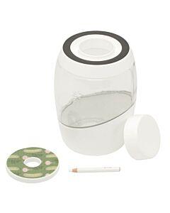 Mortier Pilon fermentatiepot 2 liter glas wit