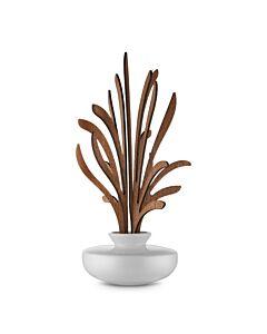 Alessi The Five Seasons geurverdeler Grrr ø 11,5 cm h 27,5 cm porselein/mahonie wit/bruin