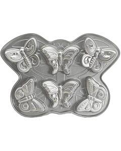 Nordic Ware Butterfly bakvorm 6 stuks gietaluminium