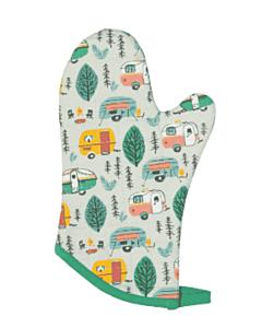 Now Designs Happy Camper ovenwant 30 x 13 cm katoen groen