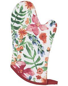 Now Designs Botanica ovenwant 30 x 13 cm katoen rood