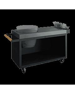 OFYR Kamado Table Black 135 PRO voor Big Green Egg Large beton