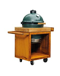 OFYR Kamado Table 65 PRO voor Big Green Egg Large met teakhouten werkblad