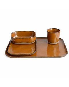 Serax Merci serviesset aardewerk okergeel 32-delig