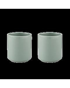 Stelton Core thermokop 200 ml aardewerk dusty green 2 stuks