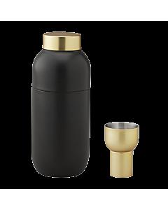 Stelton Collar cocktailshaker met maatbeker 500 ml zwart