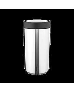 Stelton To Go Click reisbeker 200 ml staal glanzend