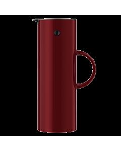Stelton Classic thermoskan 1 liter kunststof warm maroon