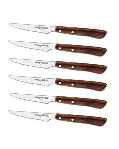 Oldenhof steakmes rvs hout 6 stuks