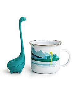 Ototo Cup of Nessie theeinfuser en beker kunststof/emaille blauw