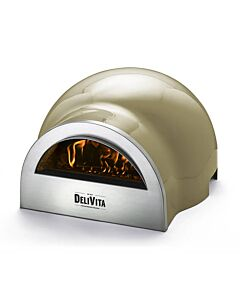 Delivita houtgestookte pizza-oven 65 x 59 x 39 cm Olive Green