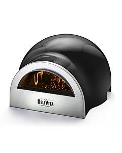 Delivita houtgestookte pizza-oven 65 x 59 x 39 cm Very Black