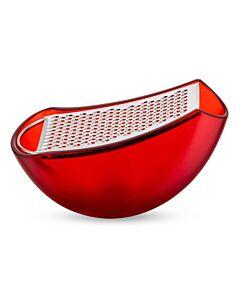 Alessi Parmenide rasp kunststof rvs rood