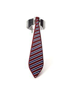 Peleg Bottle Tie kurkentrekker strepenpatroon 11,5 cm rvs rood