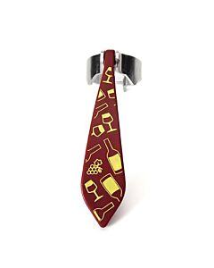 Peleg Bottle Tie kurkentrekker wijnglazenpatroon 11,5 cm rvs rood