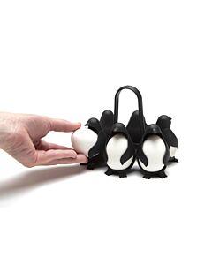 Peleg Egguins eierkoker kunststof 14.7 x 12,1 cm zwart