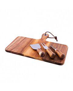 Point-Virgule 4-delige kaasset met messen en serveerplank