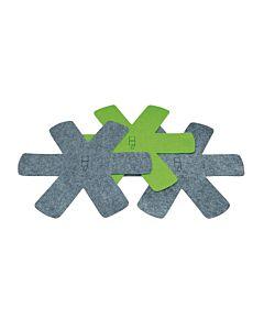 Point-Virgule pannenbeschermers ø 38 cm kunststof grijs en groen