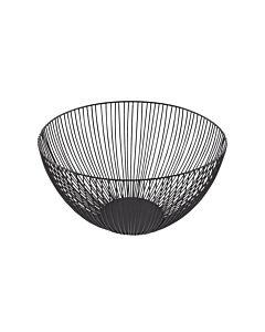 Point-Virgule Wire fruitmand ø 25 cm zwart