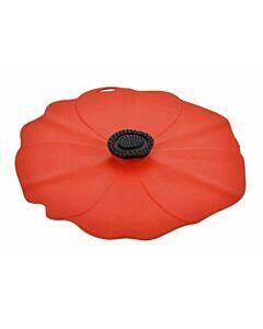 Charles Viancin Poppy deksel ø 28 cm silicone rood