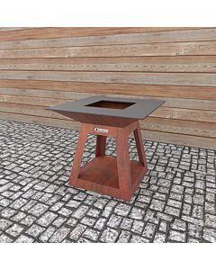 Quan Quadro Air Corten barbecue 100 x 100 cm cortenstaal