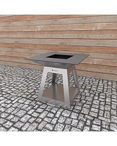 Quan Quadro Air Silver barbecue 100 x 100 cm rvs