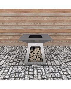 Quan Quadro Standard Silver barbecue 100 x 100 cm rvs