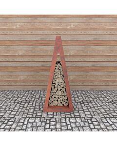 Quan Wood Storage I 90 x 80 x 200 cm cortenstaal