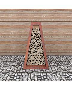 Quan Wooden Storage II 120 x 80 x 200 cm cortenstaal