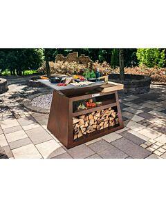 Quan Quadro Basic Big Corten barbecue 130 x 80 cm cortenstaal
