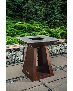 Quan Quadro Basic Medium Corten barbecue 80 x 80 cm cortenstaal