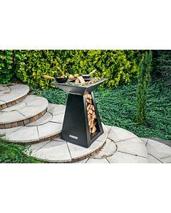 Quan Quadro Basic Small Carbon barbecue 60 x 60 cm carbonstaal