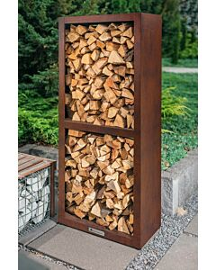 Quan Quadro Basic Corten Wood Storage 80 x 40 x 180 cm cortenstaal