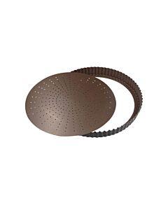 Gobel geperforeerde quichevorm laag ø 20 cm staal bruin