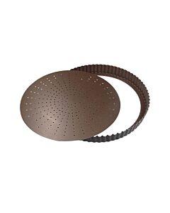 Gobel geperforeerde quichevorm laag ø 22 cm staal bruin