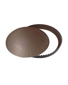 Gobel geperforeerde quichevorm laag ø 24 cm staal bruin