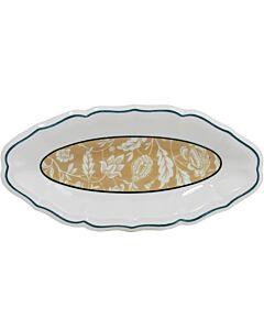 Gien Dominoté Indienne serveerschaal 26,5 x 13,2 cm keramiek