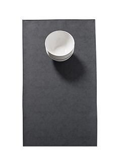 Finesse Monaco Raw tafelloper 140 x 45 cm kunstleer Black