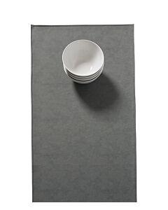 Finesse Monaco Raw tafelloper 140 x 45 cm kunstleer Storm Grey
