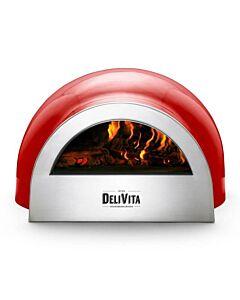 Delivita houtgestookte pizza-oven 65 x 59 x 39 cm Red