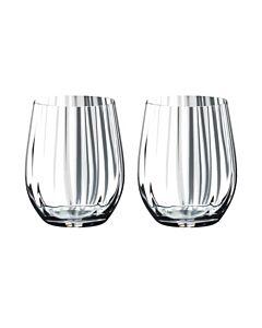 Riedel Optical 'O' whiskyglas 344 ml kristalglas 2 stuks